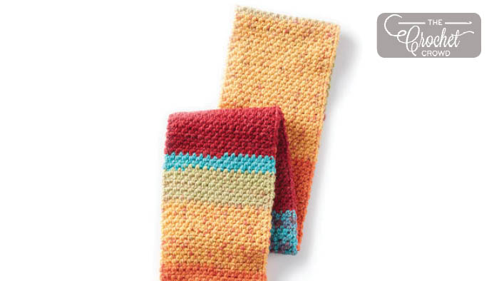 Crochet Simple Texture Scarf