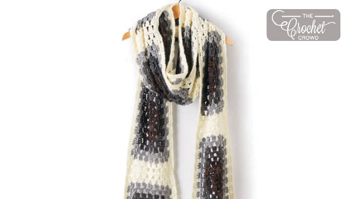 Crochet Granny Super Scarf + Tutorial