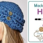 Crochet Mock Cable Hat + Tutorial
