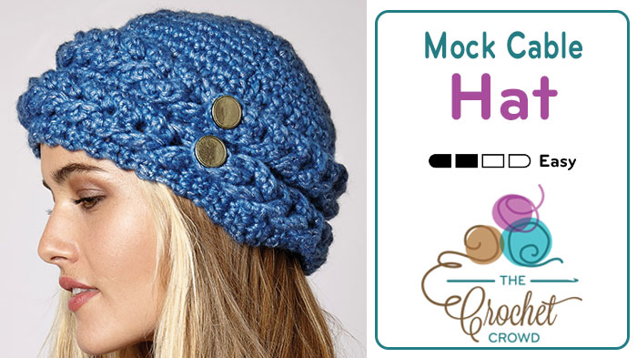 Crochet Mock Cable Hat