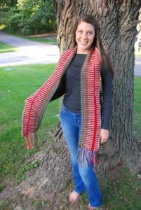 Self-Fringing Scarf by Jeanne Steinhilber