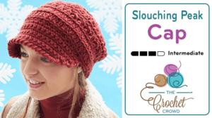 Crochet Slouching Peak Cap