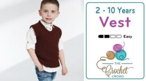 Crochet Toddler to 10 Years Old Vest