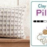 Crochet Clay Classy Steps Pillow 12 - 20