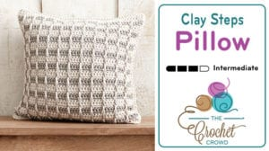 Crochet Clay Steps Pillow Pattern