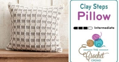 Crochet Clay Steps Pillow Pattern