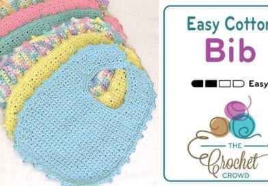 Crochet Bib Newborn – 6 Months + Tutorial