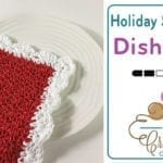 Crochet Christmas Scalloped Dishcloth + Tutorial