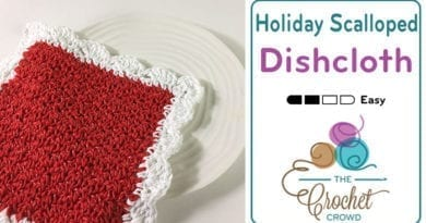 Crochet Christmas Scalloped Dishcloth Pattern