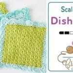 Crochet Scalloped Dishcloth + Tutorial