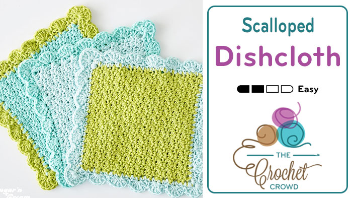 Crochet Scalloped Dishcloth Pattern