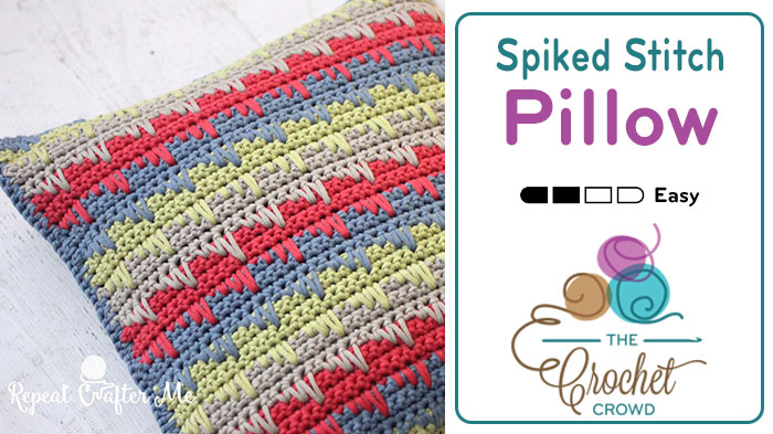 Crochet Spiked Stitch Pillow Pattern