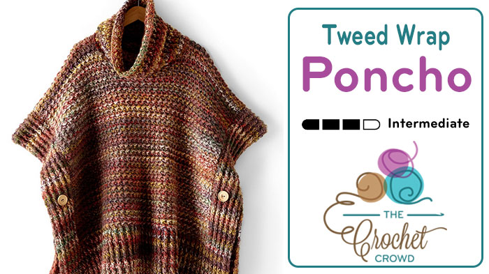 Crochet Adult Tweed Under Wraps Poncho