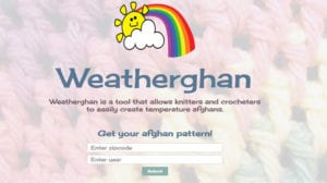 Weatherghan Program for Crocheters and Knitters