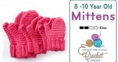 Crochet Hands Full Mittens for 8 / 10 Year Olds