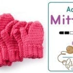 Crochet Hands Full Mittens: Adult Size + Tutorial