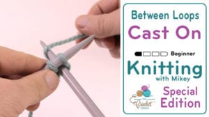 Knitting: Cast On Between the Loops Method