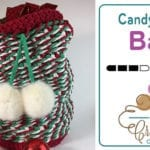 Crochet Candy Cane Santa Bag