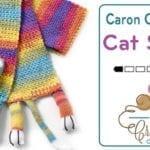 Crochet & Knit Caron Critters Cat  & Dog Scarf + Tutorial