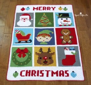 Christmas Character Afghan by Repeat Crafter Me