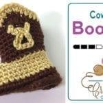 Crochet Newborn Baby Cowboy Booties