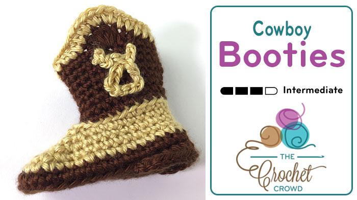 Crochet Cowboy Booties