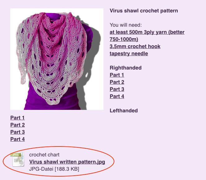 Crochet Virus Shawl Website