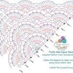Fluffy Meringue Shawl Diagram