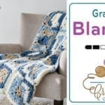 Crochet Bernat Bundle Denim Blanket