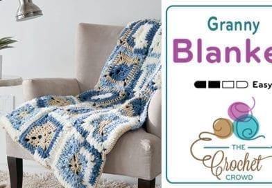 Crochet Bernat Bundle Denim Blanket