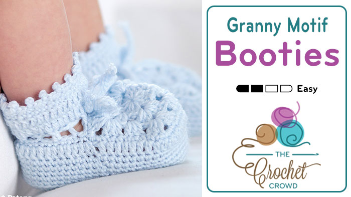 Crochet Vintage Baby Booties + Tutorial