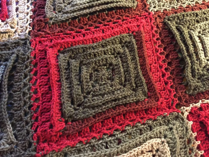 Crochet Hypnotic Afghan Square - Close Up