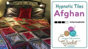 Crochet Hypnotic Tiles Afghan