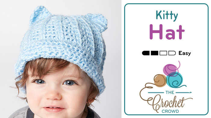 Crochet Kitty Hat + Tutorial