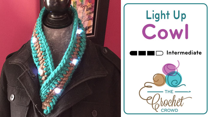 Crochet Light Up Cowl by Diva Dan