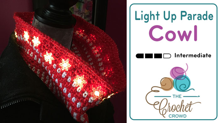 Crochet Light Up Parade Cowl by Mikey