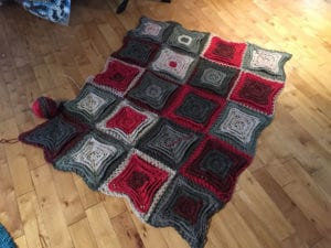 Crochet Red Velvet Cake Afghan without Border