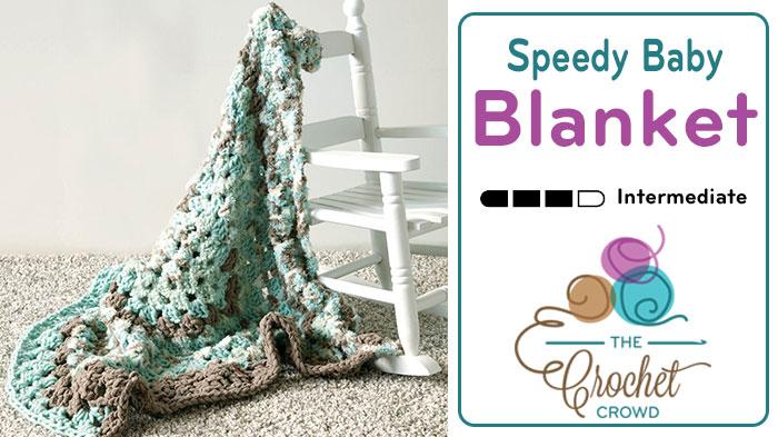 Crochet Speedy Baby Blanket Tutorial