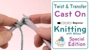 Knitting: How to Cast On - Twist and Transfer Method