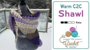 Warm C2C Shawl by Mikey