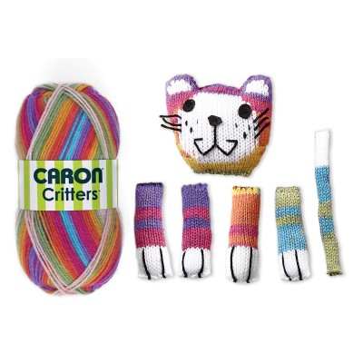 Caron Critters Cat Scarf Components