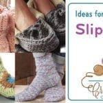 Don't Slip on Your Crocheted Slippers
