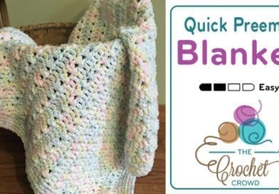 Crochet Quick Preemie Blanket Pattern