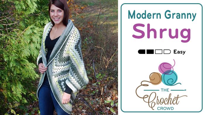 Crochet Modern Granny Shrug Tutorial The Crochet Crowd