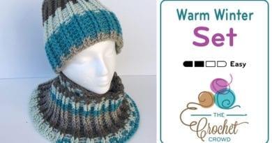 Crochet Warm Winter Hat & Cowl Set by Jeanne Steinhilber