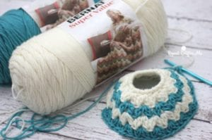 Crochet Mommy and Me Messy Bun Hats by Repeat Crafter Me