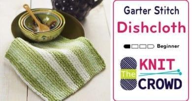 Knit Garter Stitch Dishcloth