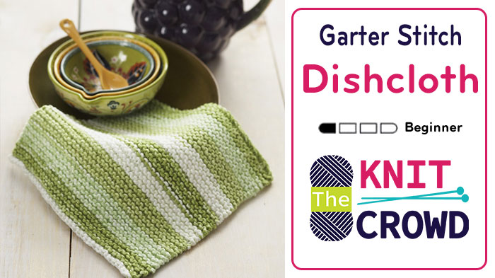 Knit Garter Stitch Dishcloth
