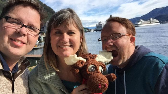 Travelling with Crochet Amigurumi
