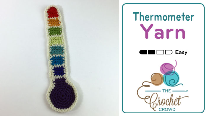 Crochet Yarn Thermometer Applique